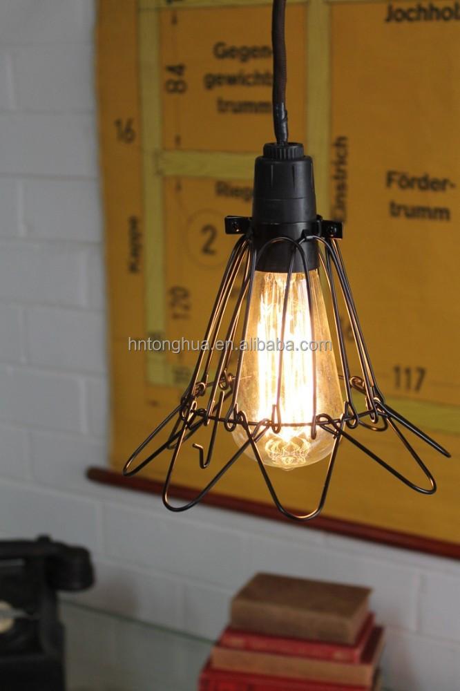 pendant light bulb guard bird cage light buy pendant. Black Bedroom Furniture Sets. Home Design Ideas