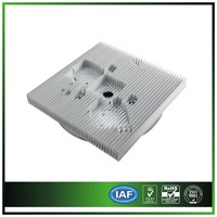 CNC milling aluminum heatsink with high precision