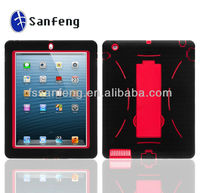 for ipad3 case cover with stand, for iPad 2 robot case, fit for ipad2 phone cover(many colors)