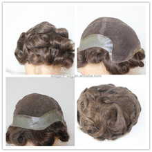 Elegant Wig Factory Price Human Hair Piece Natural Human Hair Wig for Men Curly Hair System
