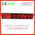 Semi-outdoor 9 digit led digital time display