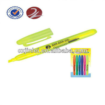 2017 NEW ITEM fine color scented plastic highlighter marker