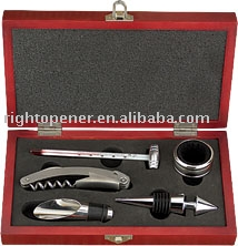 wine opener set,wine set with gift box ,wine accessories