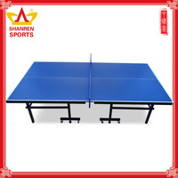 Physical fitness used indoor HDF 15mm ping pong table for sale