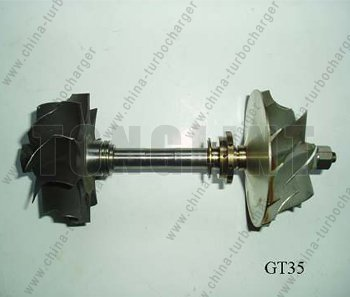 Turbocharger Parts Rotor Assembly GT35