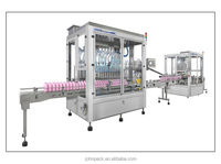 Hot high viscous liquid (honey,oil,liquid) automatic filling and capping machine production line