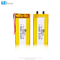 flat lithium battery 280mah 402040 3.7volt lithium cell for MP3, GPS, Bluetooth