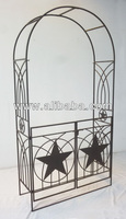 Decorative Metal Garden Arch with Gate