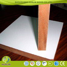 18mm double side titanium white color laminated melamine MDF board