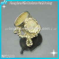 2014 New products metal festive gifts, gold festive crafts, 3D design cups