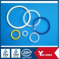 OEM customized various sizes silicone rubber o ring for medical machines sealing