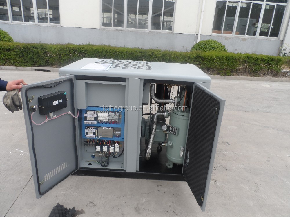 20HP direct driven rotary screw air compressor with air cooling