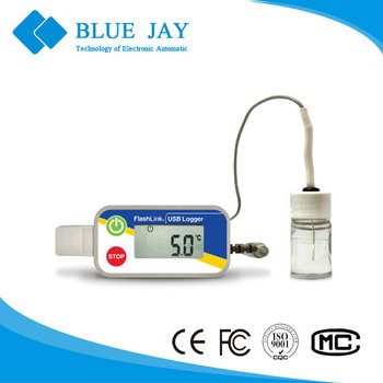 20938 -40~40 Degree Vaccine Data Logger with Glycol Bottle, Temperature Sensitive Pharmaceutical Data Recoder