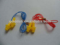 silicon rubber earplugs with cord