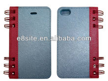 Notebook Design Leather Case For iPhone 5 5s