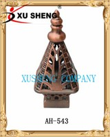 xusheng New models curtain rods leaf finial
