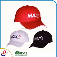 China manufactory good quality cap hat custom embroidery outdoor activities 6 panel baseball cap
