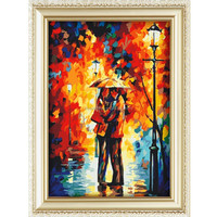 2015 Romantic kiss best price good quality diy digital oil painting for christmas decor