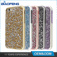 2017 Latest Soft TPU case Hard PC 2 in 1 bling personalized Mobile Phone Diamond Cover Case for iPhone 6 case cover