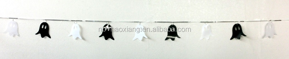 Ghost garland for Halloween pary decoration