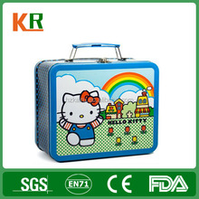 Small colorful kids first-rate custom tin lunch box