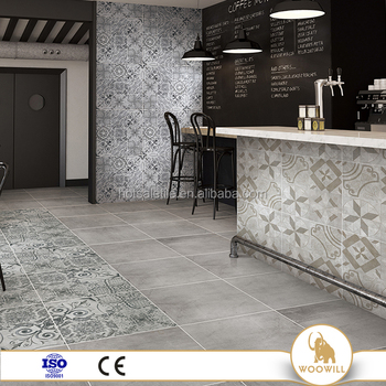 600*600 Beige Concrete Rustic Porcelain Tiles For Wall And Floor Tile