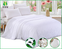 White color hotel use mulberry100% silk floss quilt