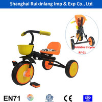 easy foldable simple 3 wheel pedal car/ kids tricycle 100% assemble small package