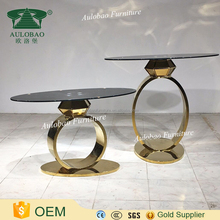Contemporary Design oval glass top dining table