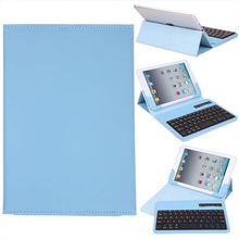 4 Colors Wireless Removable Bluetooth Keyboard Portfolio Leather Case Cover For Apple iPad 234