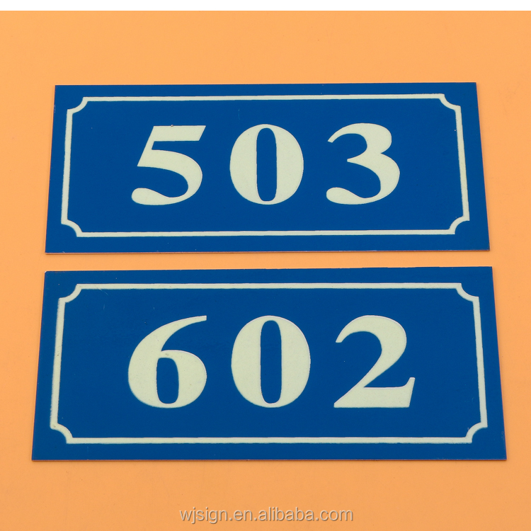 Cheap Number Logo Printing Self-adhesive Custom Emergency Exit Sign For Store