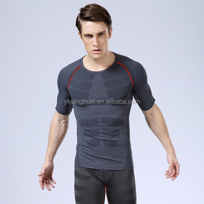 MA06 Men's SLIM LIFT T shirts Sport Slimming Underwear men's Body Shaper Quick-dry Compression shirts