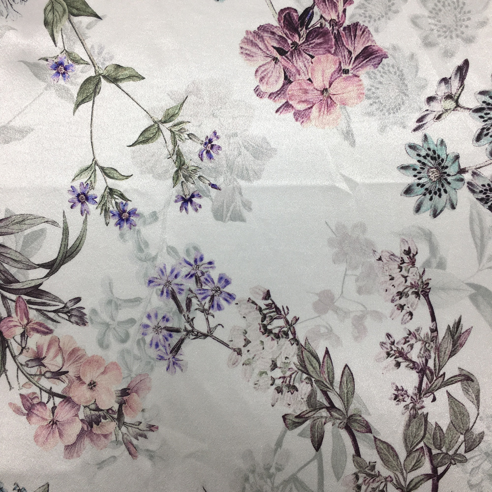digital printed pongee lining fabric 100 polyester for cloth