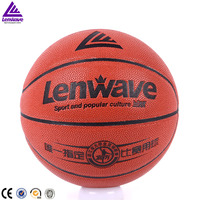 Top quality PU leather youth university match basketball