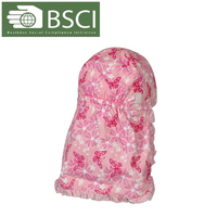 BSCI Audit baby's pink cotton hats with long back flap