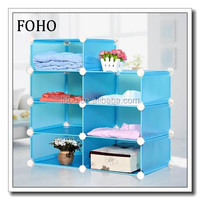 7 compartments blue storage cubes for clothes and toys