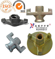 concrete formwork tie rod wing nut with plate