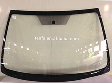 Laminated front windshield