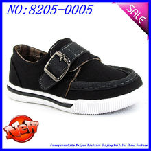 buckle strap boys canvas shoe with cotton lining