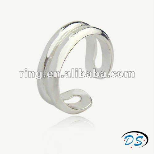 925 sterling silver simple wide plain hollow band design ring
