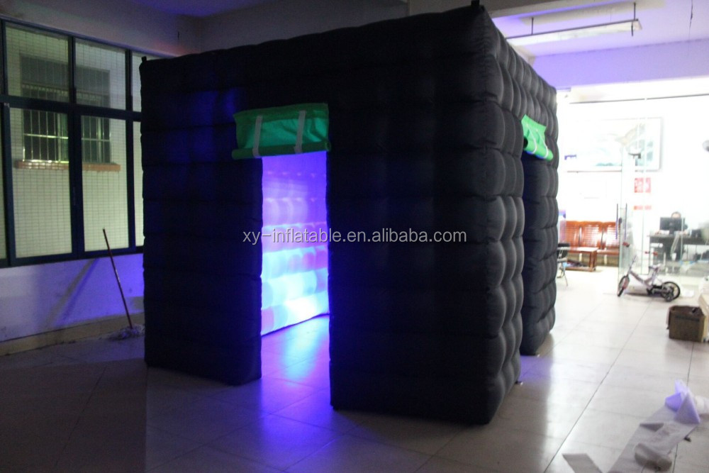 Inflatable photo booth black for hot sale, cheap inflatable photo tent