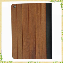 9.7 inch Flip real leather wood case for ipad case, for ipad air case, for ipad cover