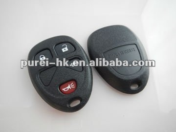 Hot selling GM remote keyless shell 4 buttons car key fob case whoel sale