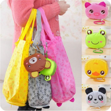2018 Cartoon Animal Foldable Folding Shopping Tote Reusable Eco Bag Panda Frog Pig Bear waterproof shopping bags Storage Bags
