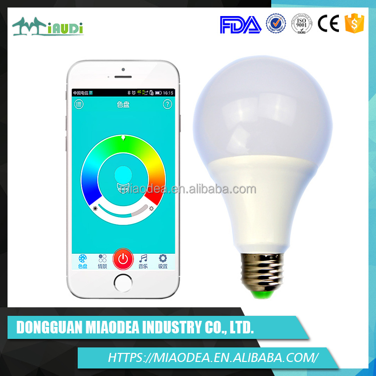 Innovation hot selling product 2016 PC Lampshade wifi controlled led light bulb
