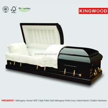 PRESIDENT wood carving last supper casket price cheap wood coffin for sale