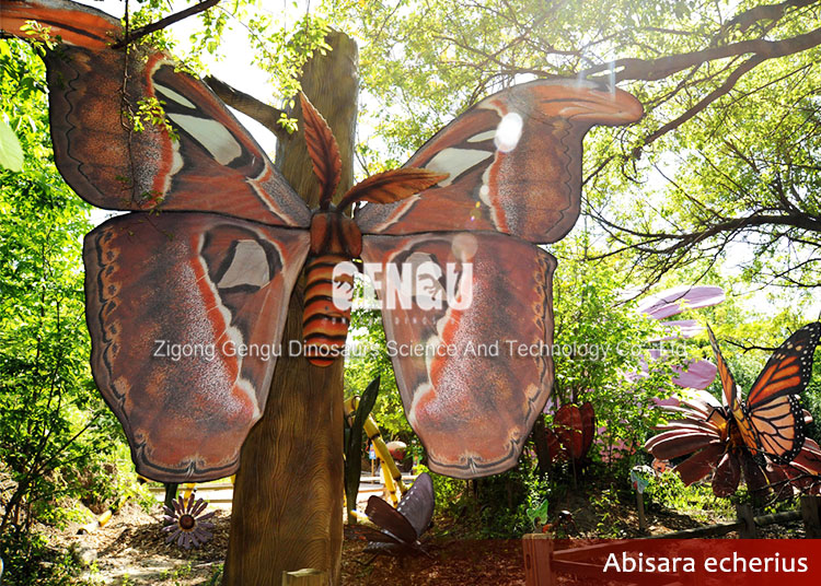 Outdoor theme park high quality animatronic animal butterflies