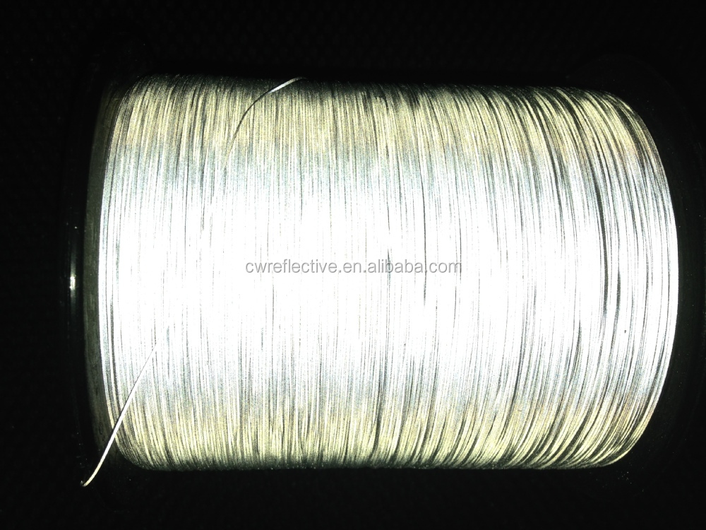 China Factory 100% polyester reflective weaving filament thread
