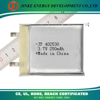 China supplier 402530 250mah 3.7v Polymer Lithium Lipo USB Direct Rechargeable Battery for Digital Appliances