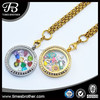 New Fashion Stainless Steel Floating Locket Charms & Large Costume Jewelry Necklace